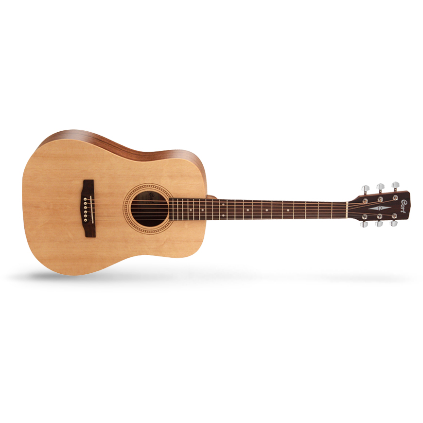 Cort Earth Series Earth50 7/8 Acoustic Guitar, Open Pore Natural