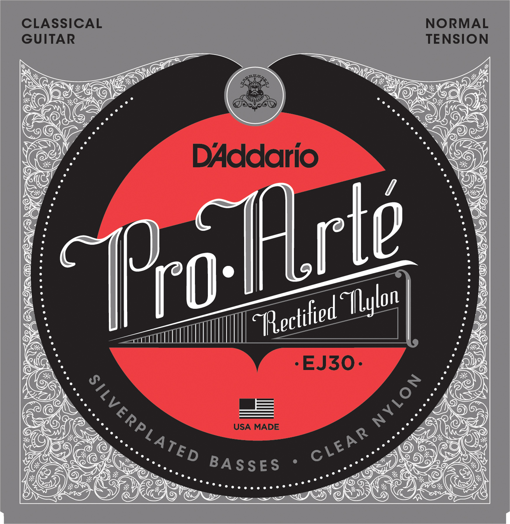 D'Addario Pro-Arte EJ30 Classical Guitar Strings, Rectified Trebles, Normal Tension