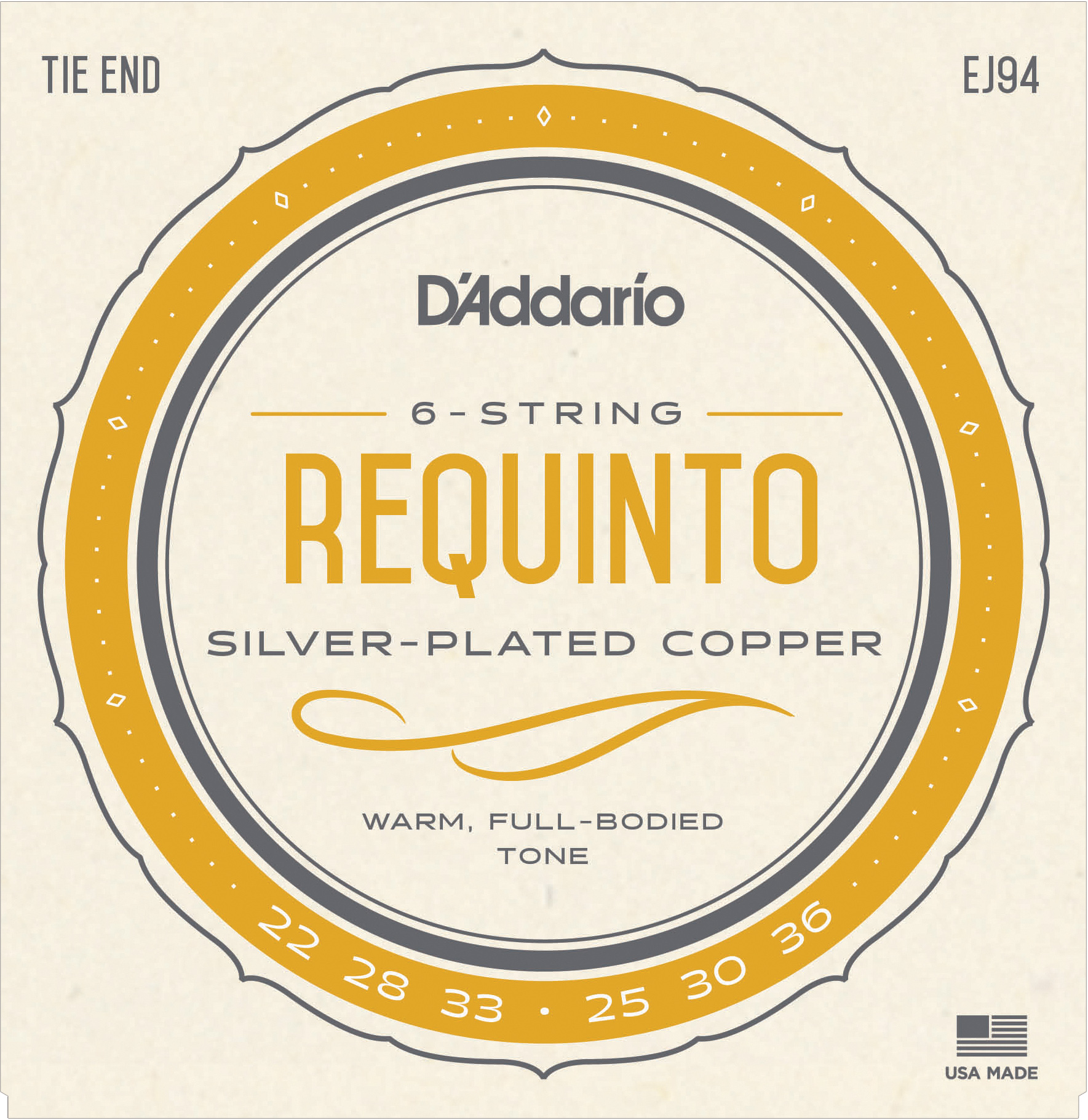 D'Addario Silverplated Copper Wound EJ94 Requinto Strings