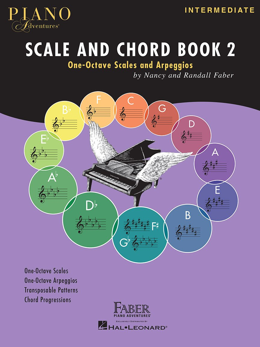 Faber Piano Adventures, Scale and Chord Book 2, One-Octave Scales and Chords