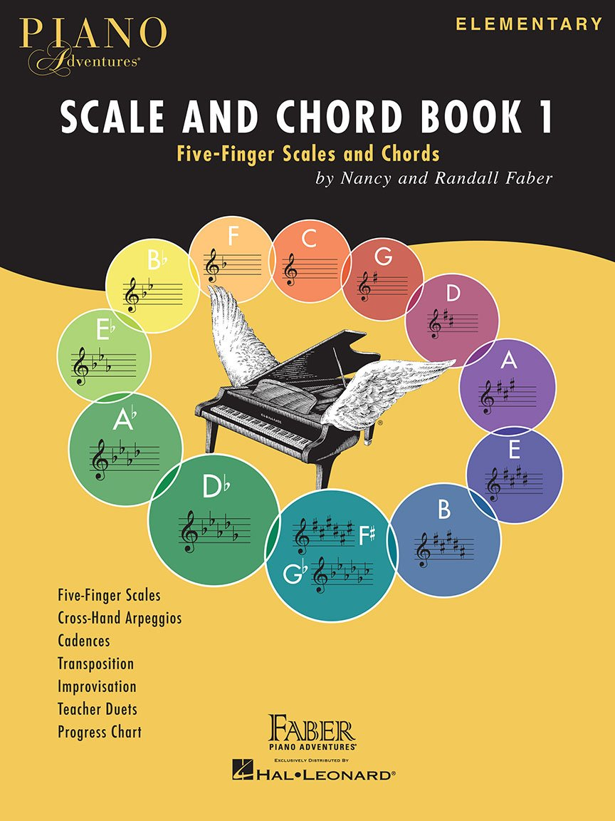 Faber Piano Adventures, Scale and Chord Book 1, Five-Finger Scales and Chords
