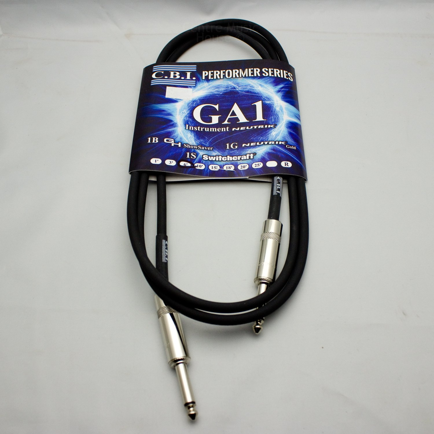 CBI Performer Series GA1 Guitar Cable, 6'