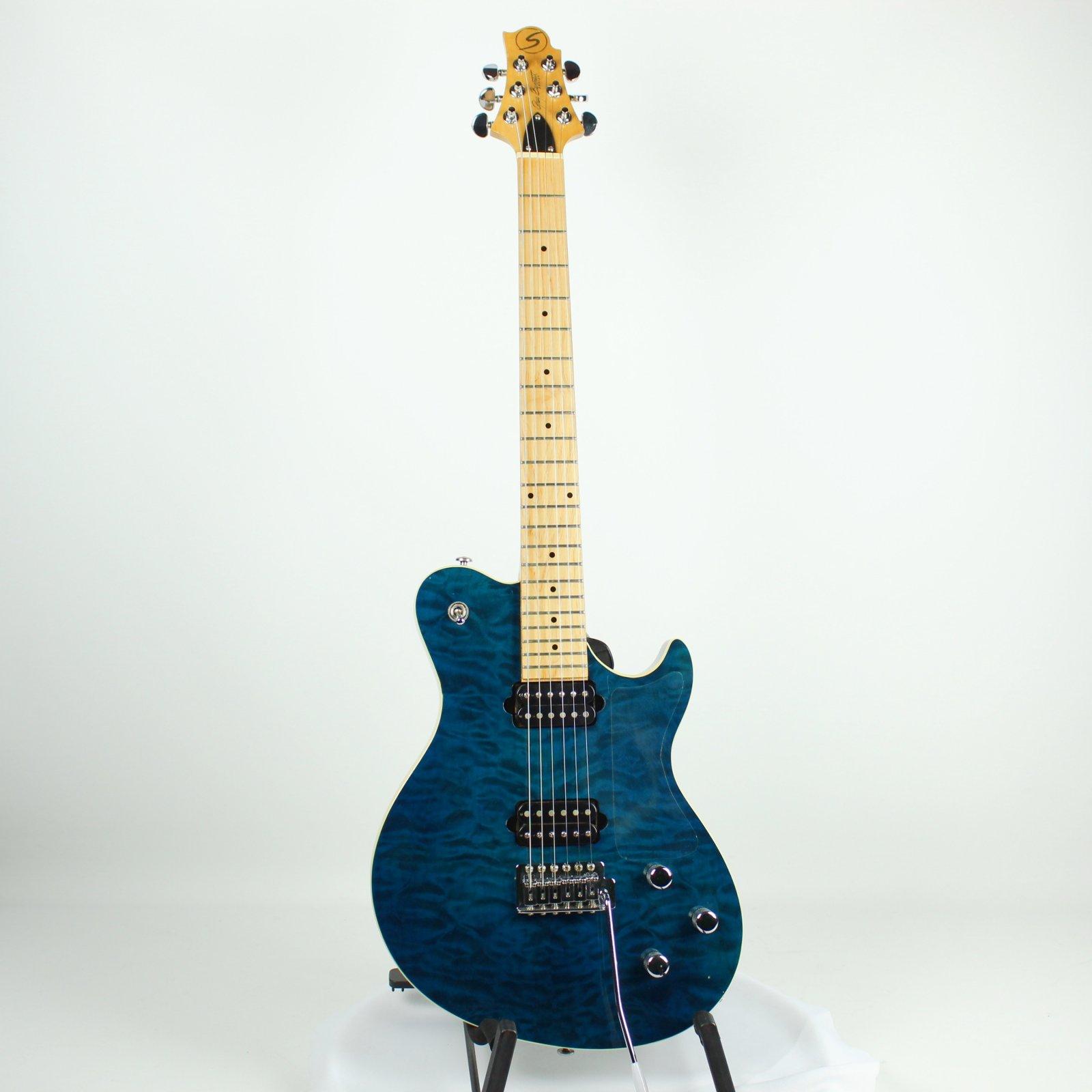 Greg Bennett FB1 Fastback Electric Guitar, Transparent Blue (USED)