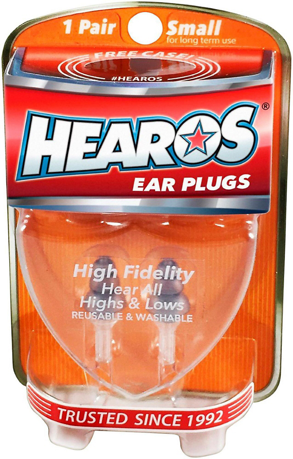 Hearos 311 High Fidelity Ear Plugs with Case, Small Size, 1 Pair