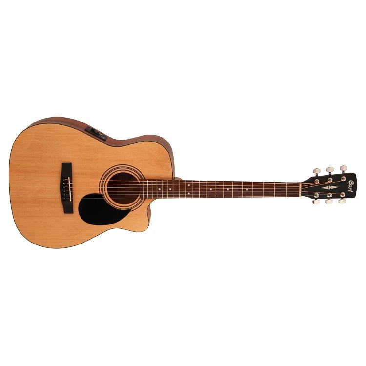 Cort Standard Series AF515CE OP Acoustic Electric Guitar, Open Pore