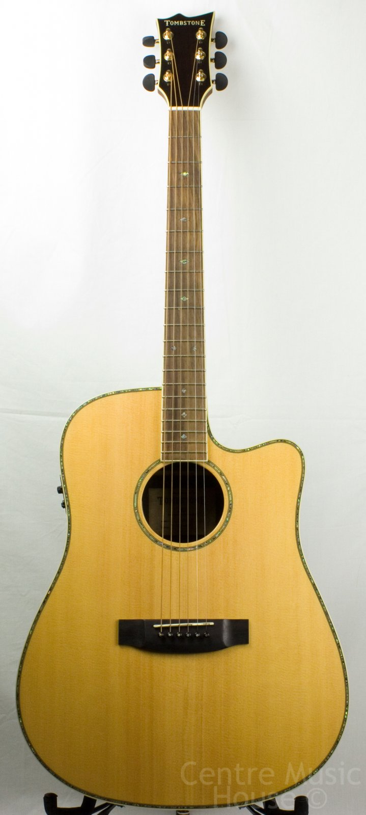 Tombstone by LTD D-430E NAT Acoustic-Electric Guitar, Natural
