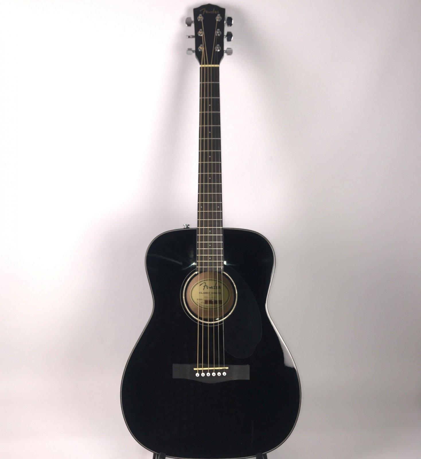 Fender CC-60S Acoustic Guitar, Black (USED)