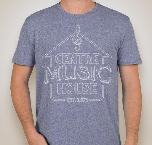 Centre Music House Tri-Blend Branded T-Shirt - Kind of Blue, Blue