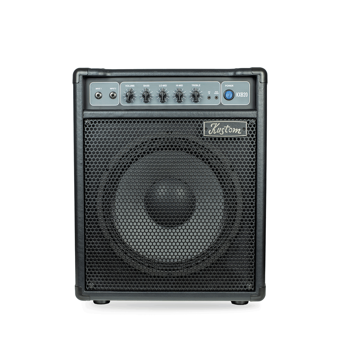 Kustom KXB20 20-Watt 1 x 12 Bass Combo w/ 4-band EQ Aux In and Headphone Out