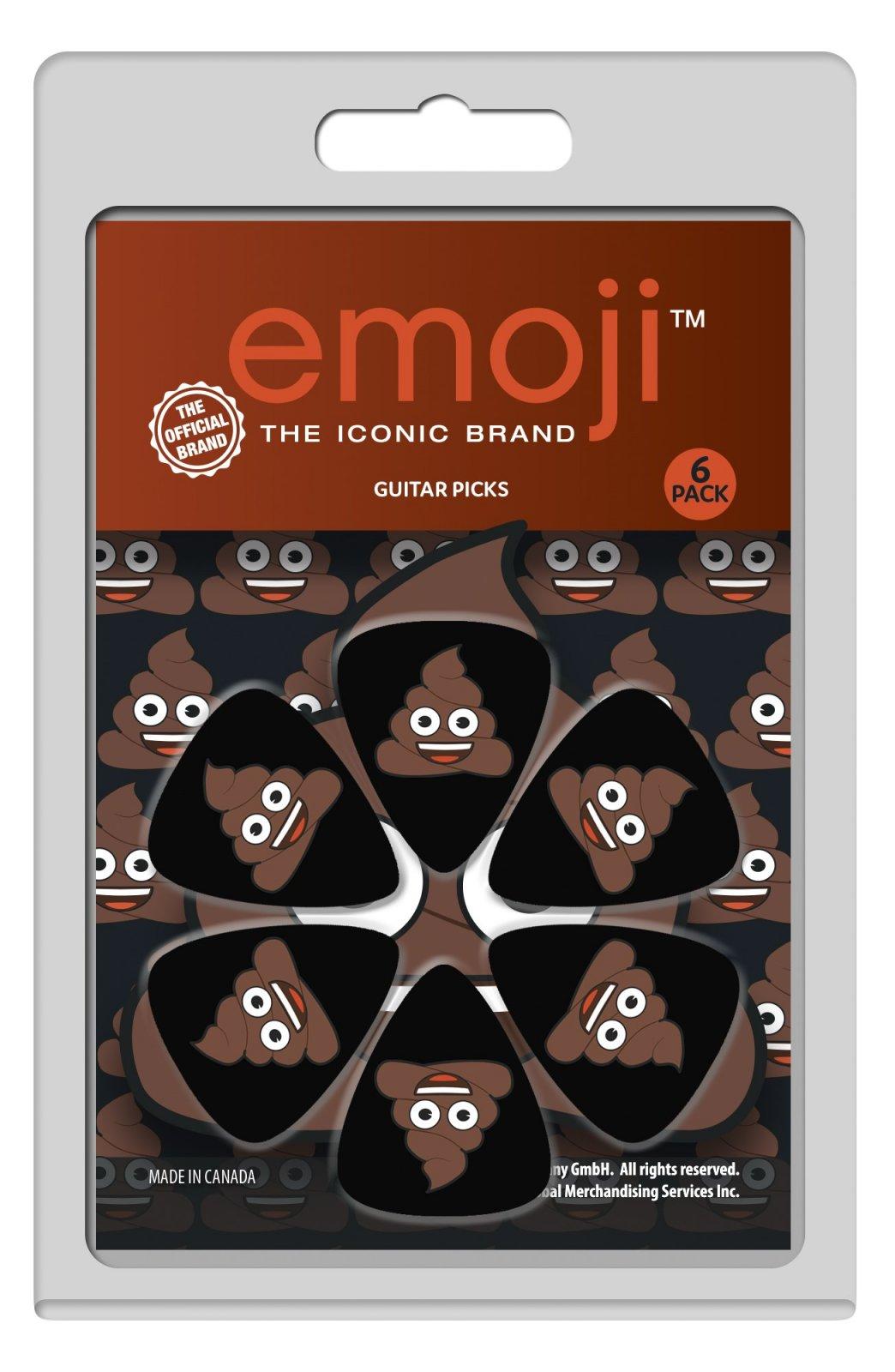 Perri's LP-EMO4 Emoji Poop Guitar Picks, 6 pack