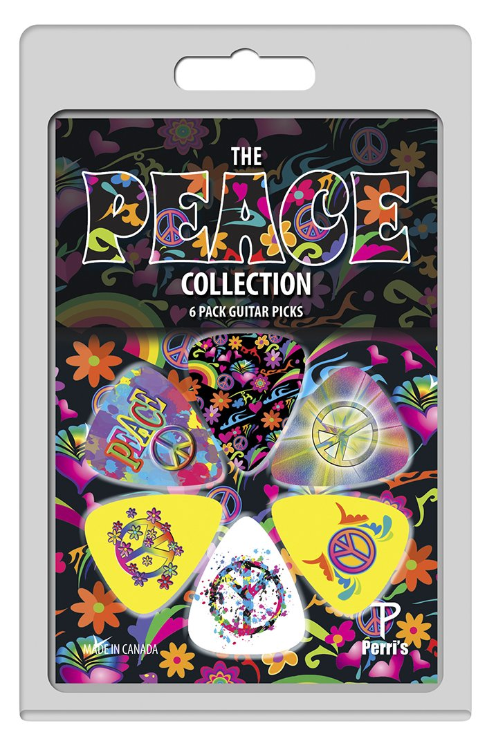 Perri's LP-PP05 The Peace Collection Guitar Picks, 6 pack