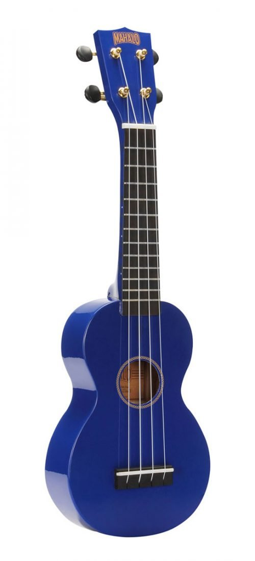 Mahalo Rainbow Series Learn 2 Play Soprano Ukulele Pack, Blue