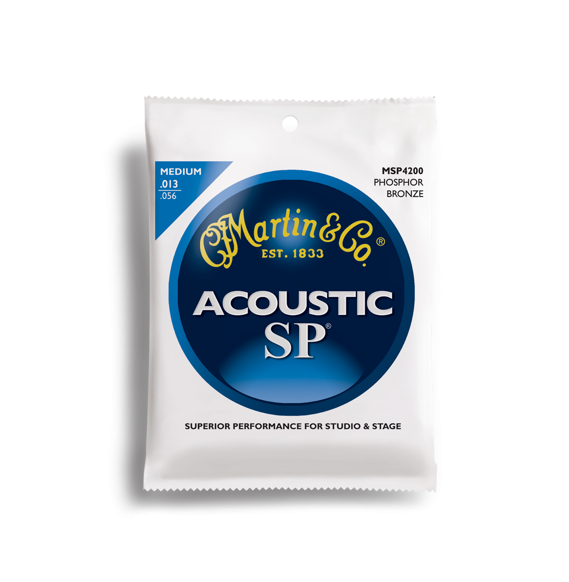 Martin SP Phosphor Bronze MSP4200 Acoustic Guitar Strings, Medium, 13-56
