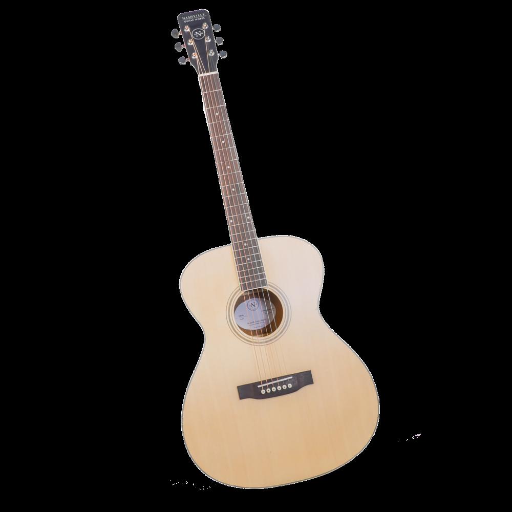 Nashville Guitar Works OM10 Orchestra Acoustic Guitar - Natural