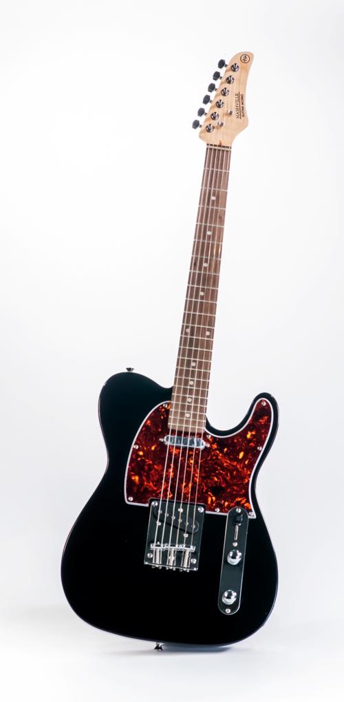 Nashville Guitar Works NGW120BK Single Cut Electric Guitar, Black