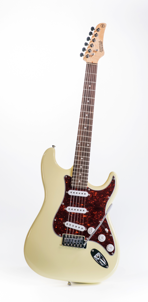 Nashville Guitar Works NGW130IV Double Cut Electric Guitar, Ivory