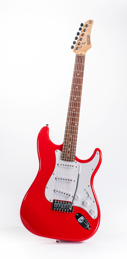 Nashville Guitar Works NGW130RD Double Cut Electric Guitar, Red