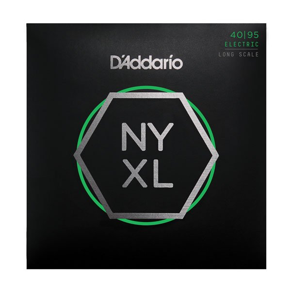 D'Addario NYXL4095 Nickel Wound Bass Guitar Strings, Long Scale, Super Light, 40-95