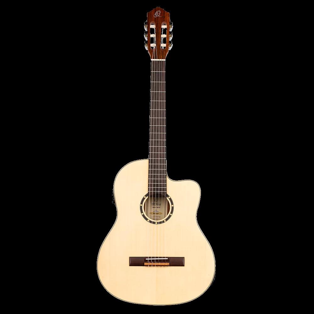 Ortega Family Series RCE125SN Acoustic-Electric Classical Guitar, Natural