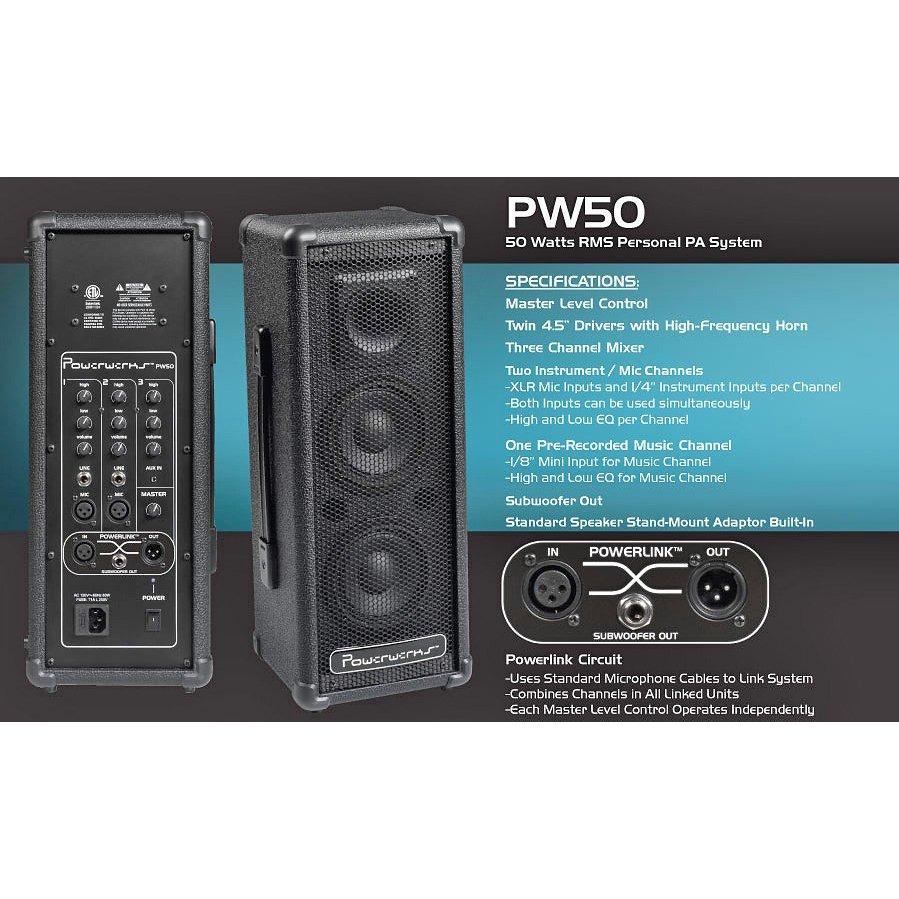 Powerwerks PW50 PA System - 701963026099