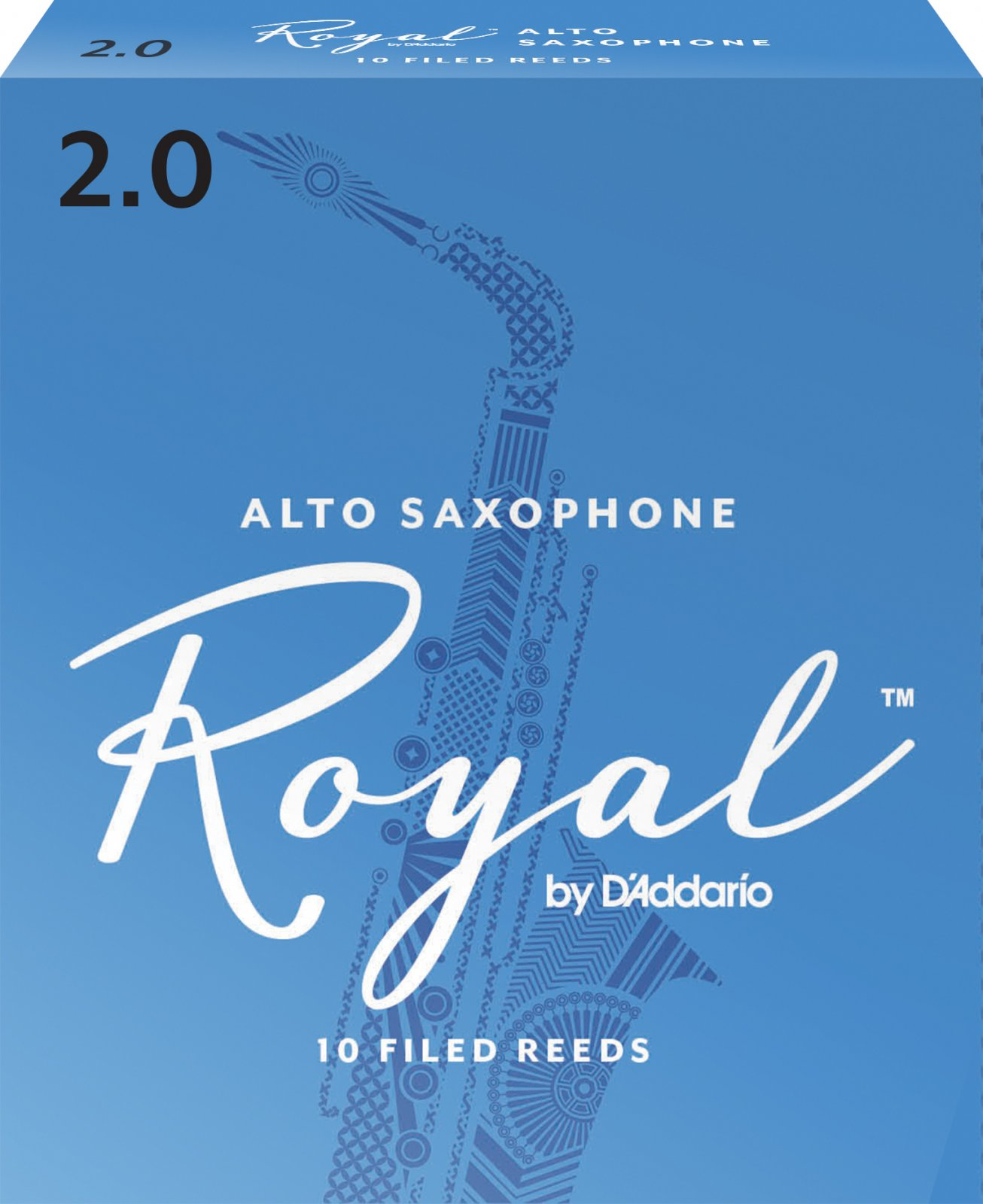 Rico Royal by D'Addario Alto Saxophone Reeds, 10-Pack