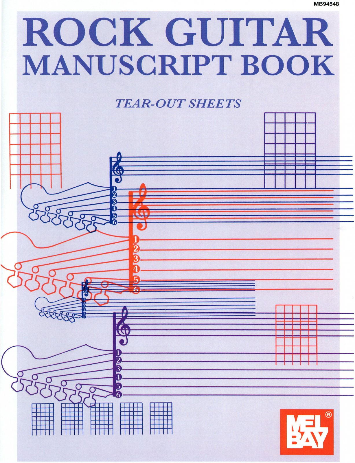 Rock Guitar Manuscript Book