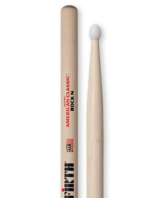 Vic Firth American Classic ROCKN Rock Drumsticks, Hickory, Nylon Tip