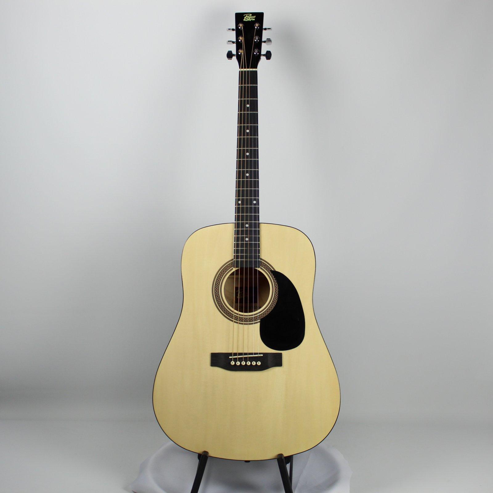 Rogue RA-090-NA Dreadnought Acoustic Guitar, Natural (USED)