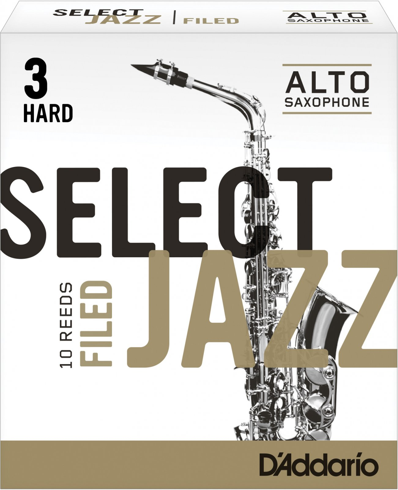 Rico Select Jazz Alto Saxophone Reeds, Filed, 10-Pack