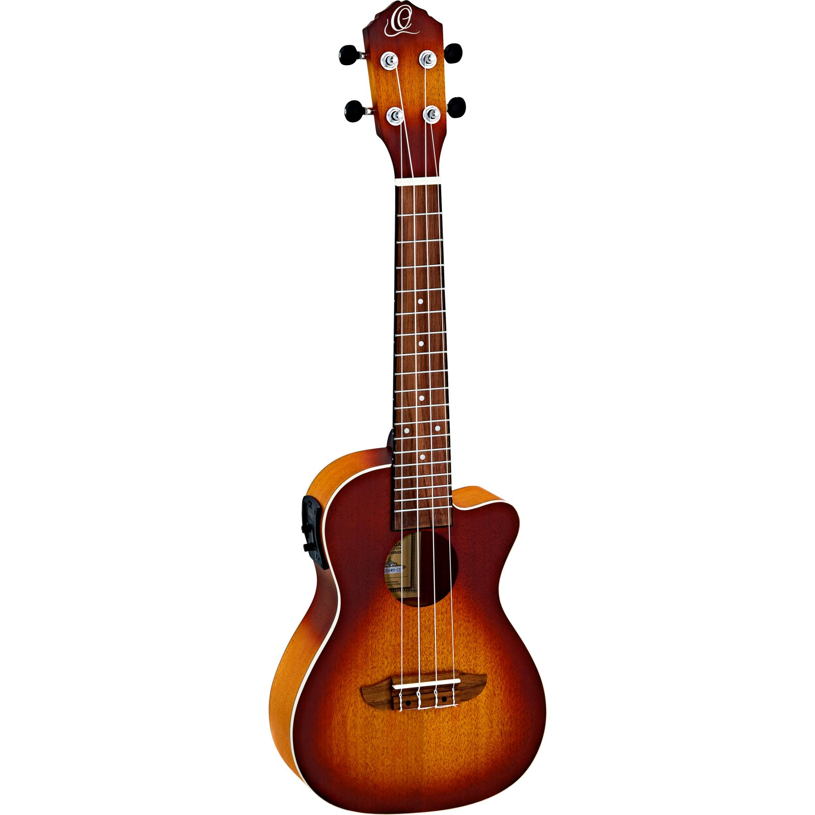 Ortega Earth Series RUDAWN-CE Cutaway Electric Concert Ukulele