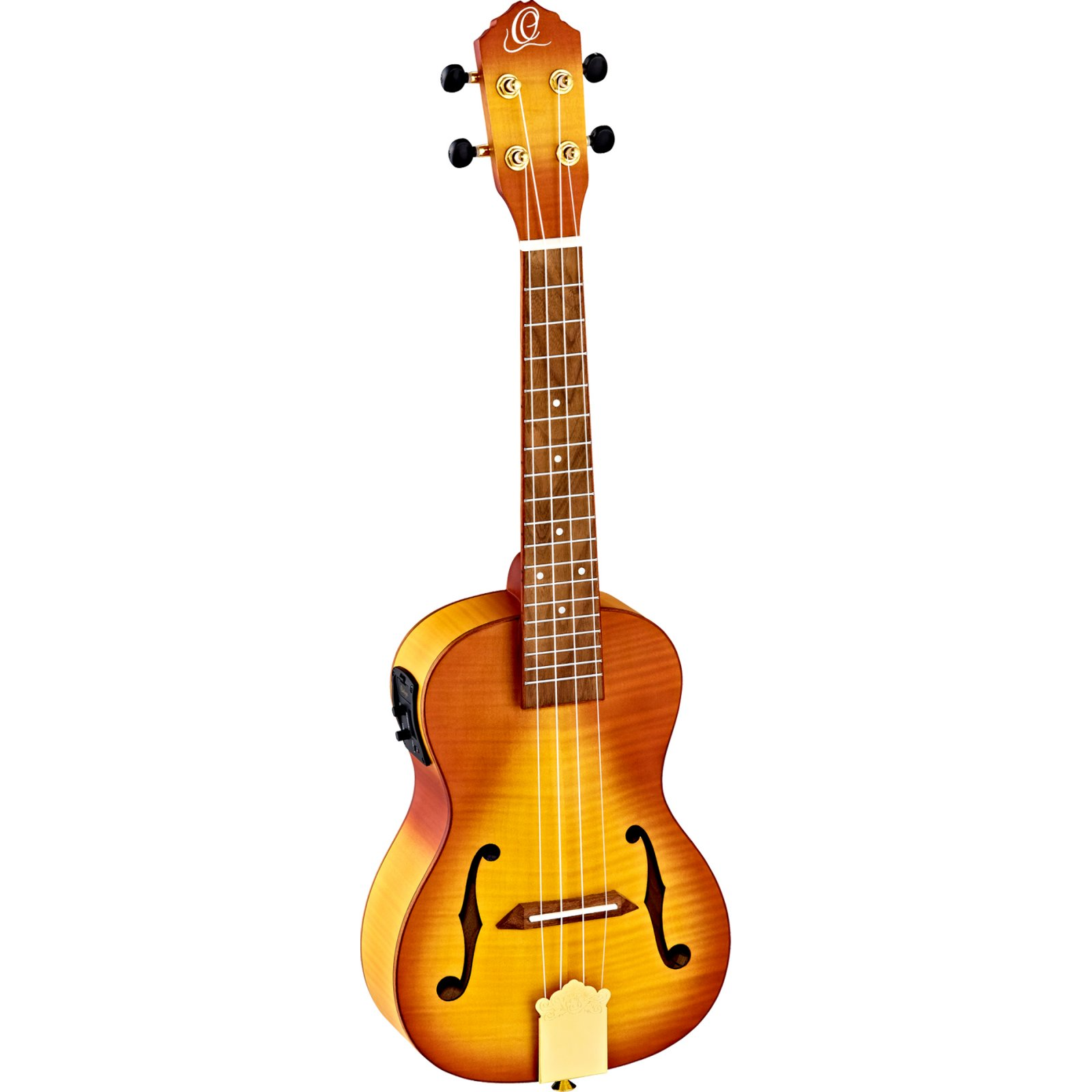 Ortega RUSL-HSB Saloon Series Arched Top Electric Concert Ukulele w/ Deluxe Gig Bag