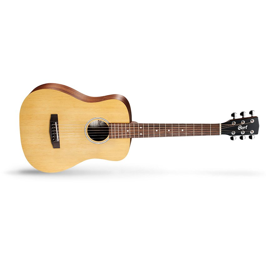 Cort Standard Series AD Mini OP 3/4 Size Acoustic Guitar w/ Gig Bag, Open Pore Natural