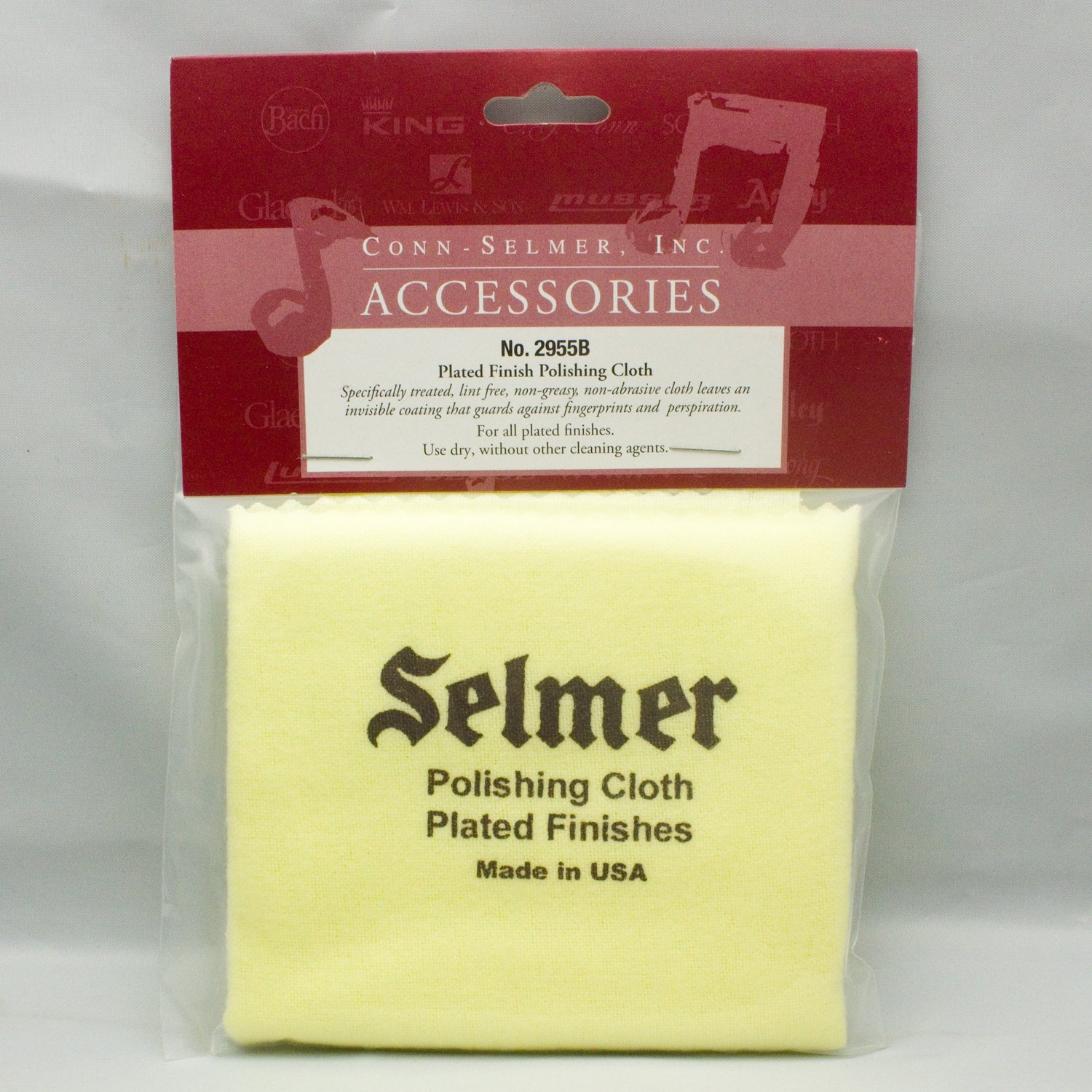 Selmer Polishing Cloth 2955 for Plated Finishes