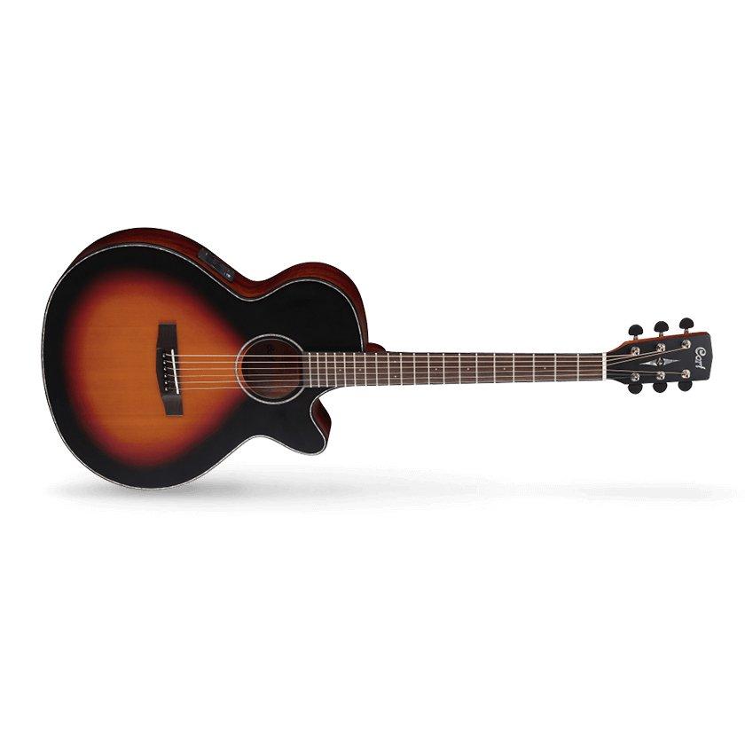 Cort SFX Series SFX-E 3TSS Acoustic Electric Guitar, 3 Tone Satin Sunburst