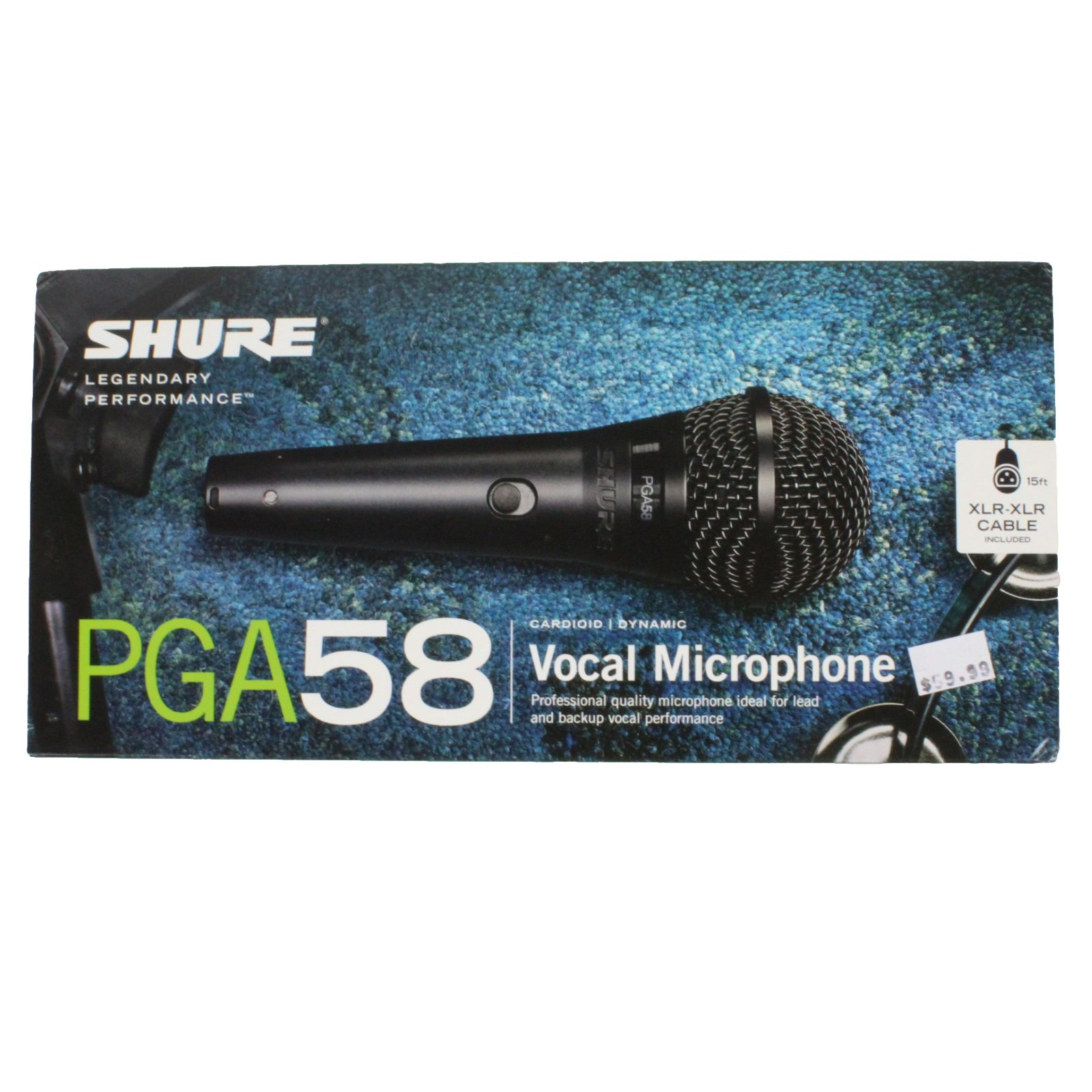 Shure PGA58-XLR Cardiod Dynamic Vocal Microphone