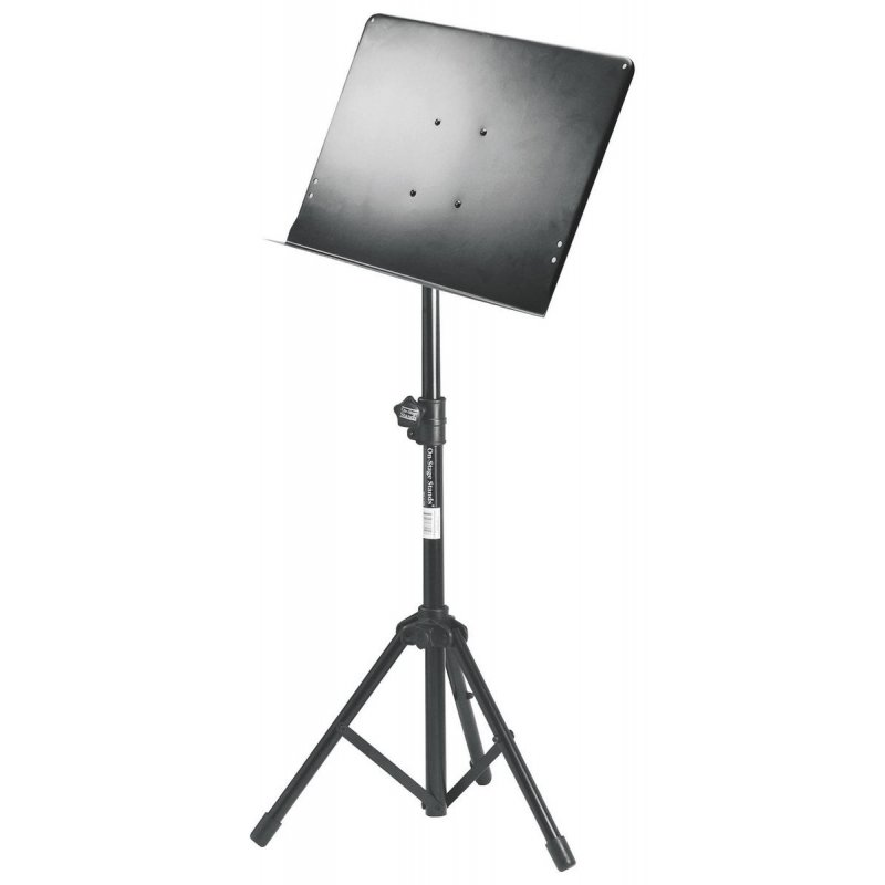 On-Stage SM7211B Pro Music Stand with Tripod Base, Black