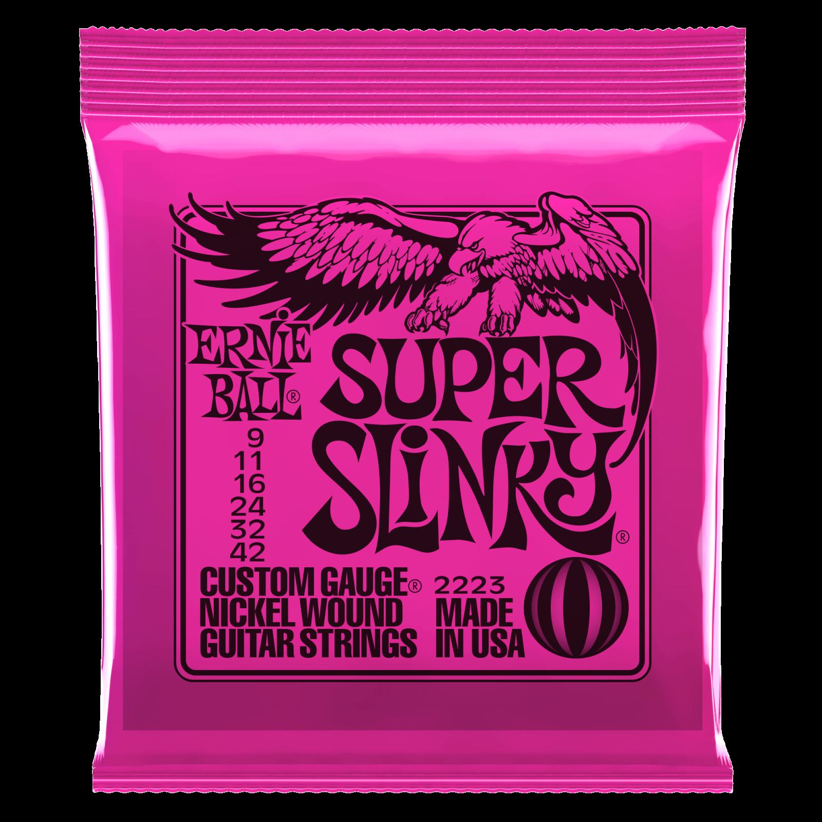 Ernie Ball Super Slinky 2223 Electric Guitar Strings, Nickel Wound, 9-42