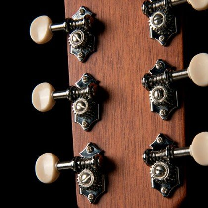 NICKEL OPEN GEAR WITH WHITE OVAL KNOBS