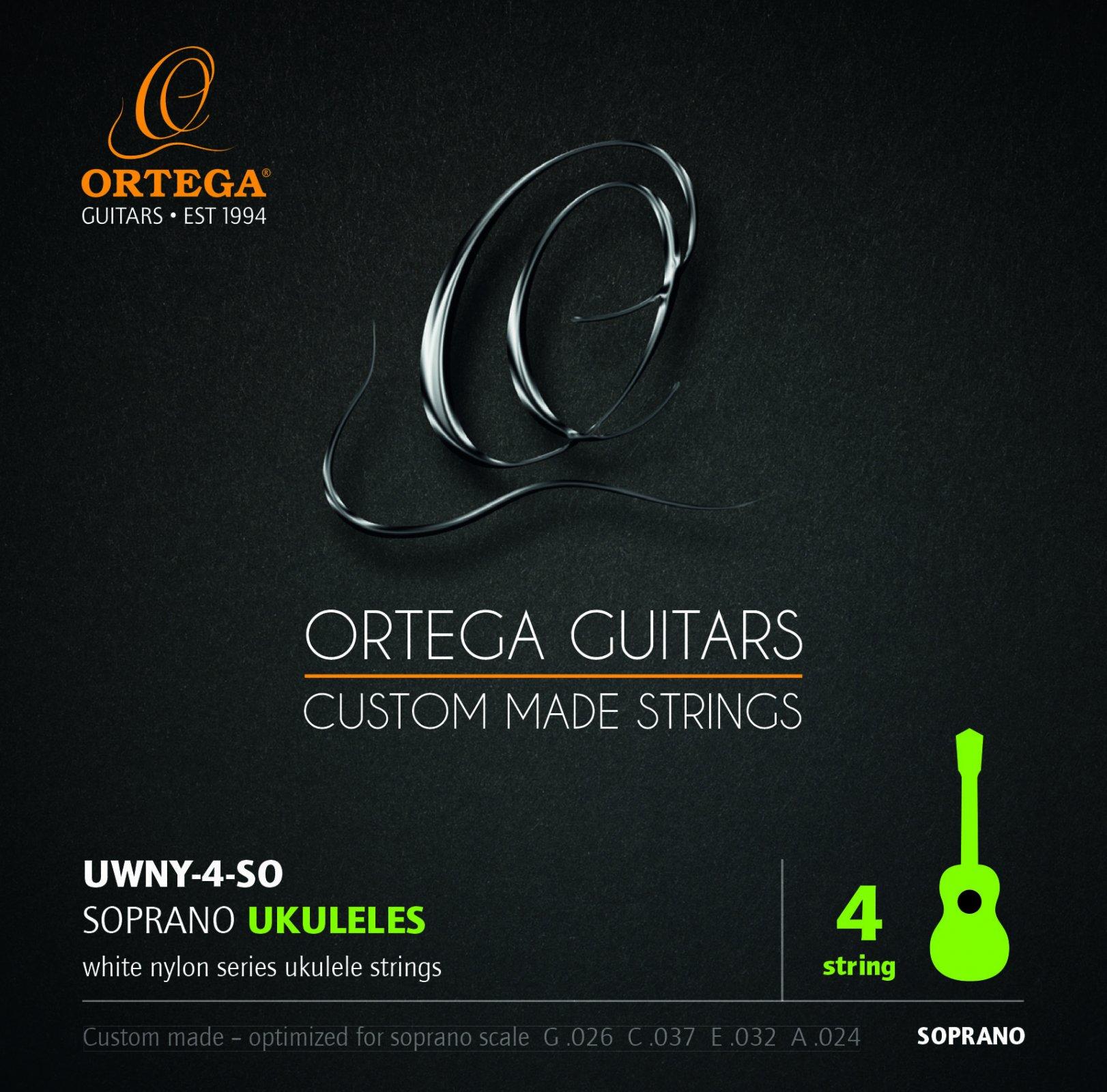 Ortega UWNY-4-SO Soprano Ukulele Strings by Aquila