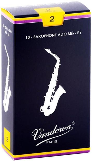 Vandoren Traditional Alto Saxophone Reeds, 10-Pack