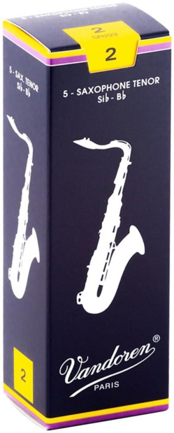 Vandoren Traditional Tenor Saxophone Reeds, 5-Pack