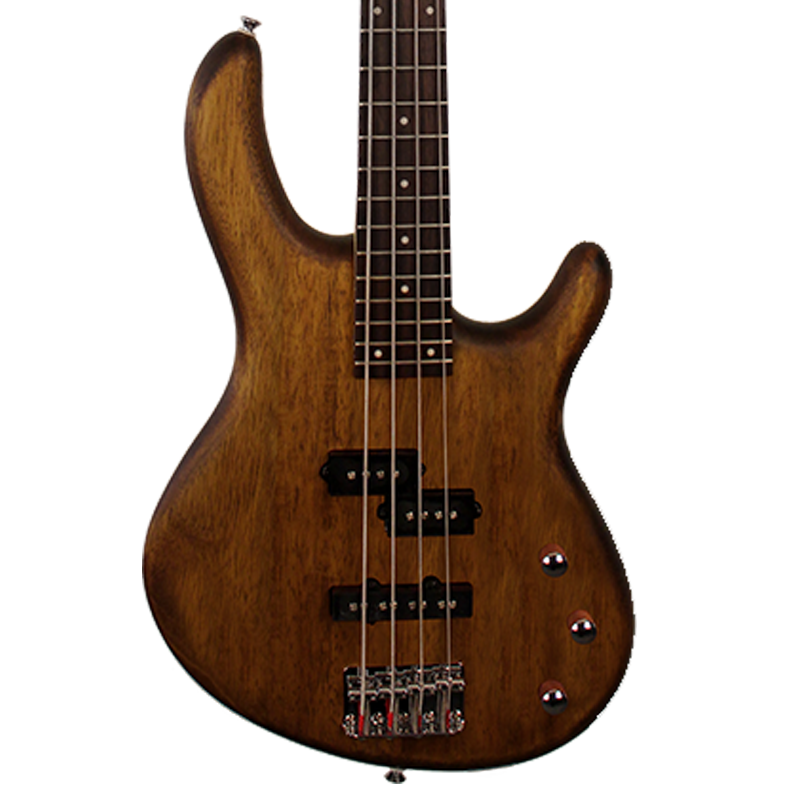 Cort Action Series PJ OPW Electric Bass, Open Pore Walnut