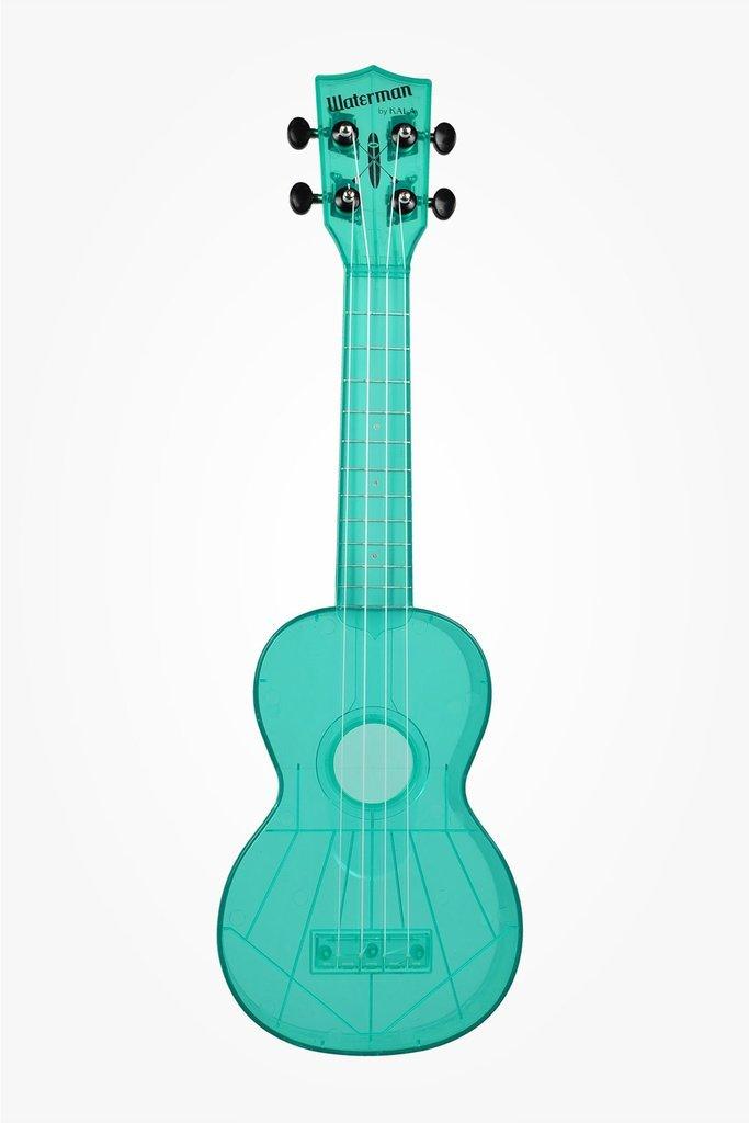 Waterman by Kala KA-SWF-BL Soprano Ukulele, Flourescent Blue Raspberry