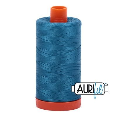 Aurifil Thread Mako 50wt 1300m (Medium Teal)