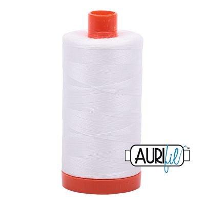 Aurifil Thread Mako 50wt 1300m (Natural White)