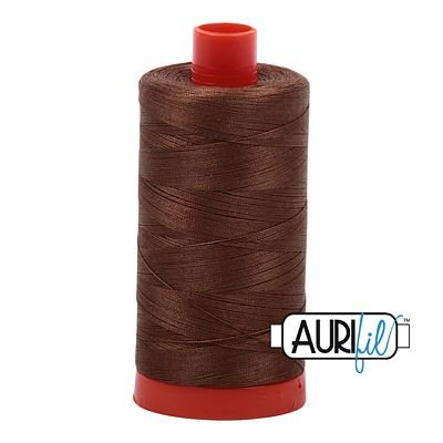 Aurifil Thread Mako 50wt 1300m (Antique Gold)