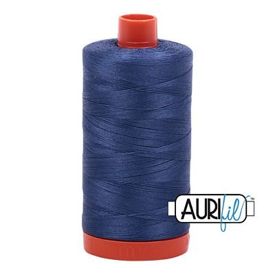 Aurifil Thread Mako 50wt 1300m (Steel Blue)