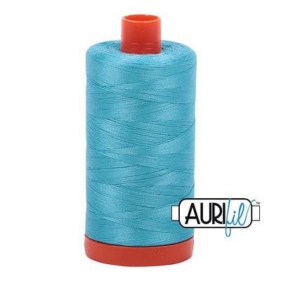 Aurifil Thread Mako 50wt 1300m (Bright Turquoise)