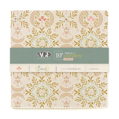 Art Gallery Fabrics - Velvet - 10 inch Squares