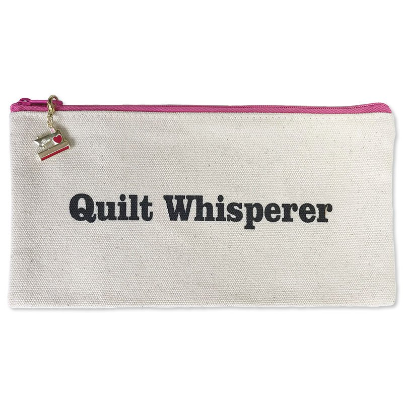 Fanatical Fusions Zipper Pouch -  Quilt Whisperer